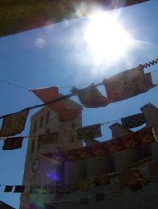 Ibiza Town festooned for the annual Medieval Fair
