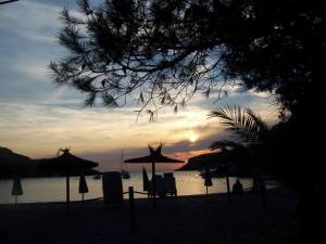 Cala Padella - view from restaurant as sun sets