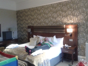 Hotel room at the Crieff Hydro