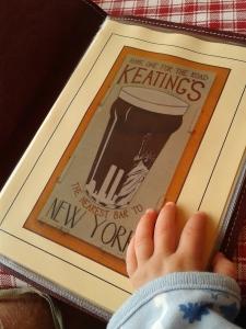 Mr Baby peruses menu at Keatings
