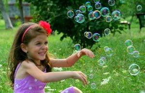 Tantrum forgotten now I have bubbles...