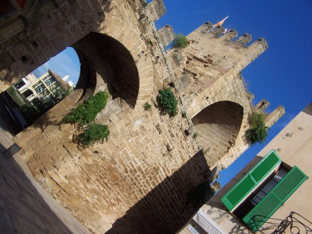 The walled town of Alcudia